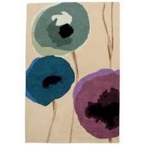 Poppies Indigo/purple - Sanderson Rug - Large - Rugs