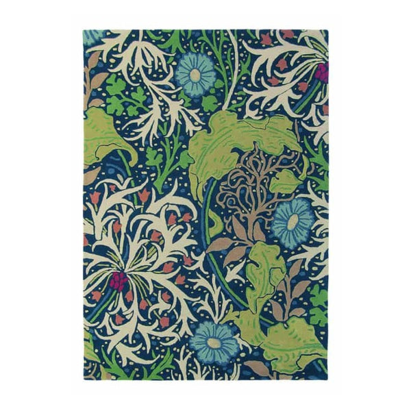 Seaweed Ink Rug - Moriss & Co (Large 200 X 280Cm) - Rugs