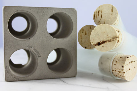Quattro Spice Tube Set with Concrete Base