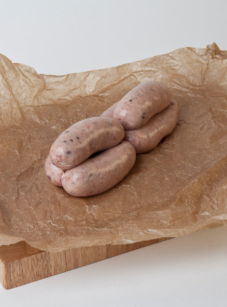 Old English and Black Pudding Sausages
