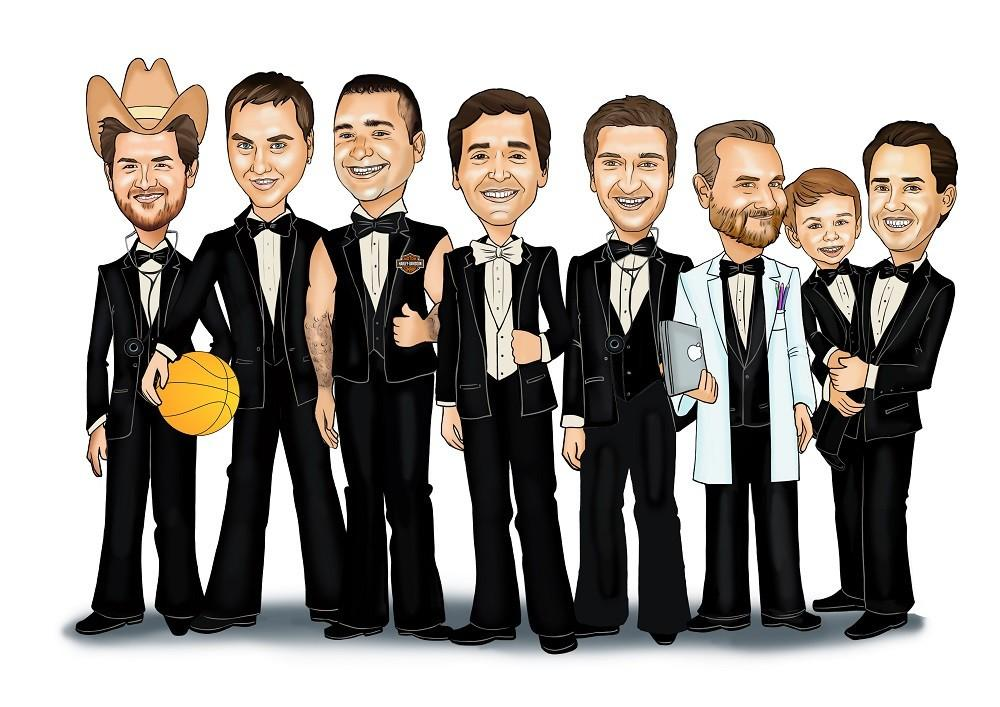 Caricature Top Groomsmen Gift Idea