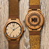 Wooden personalized watch
