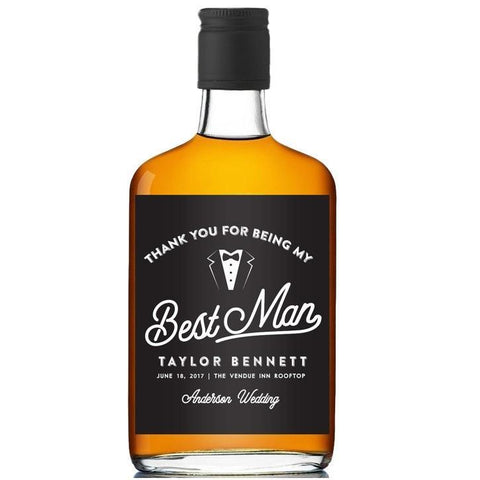 Best Man Booze Label