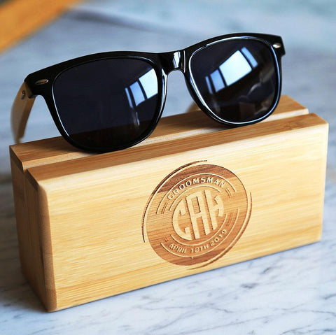 Groomsmen Sunglasses with Personalized Box