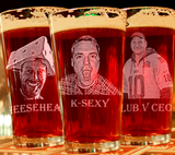 Funny Engraved Pint Glass