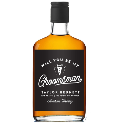 Groomsman Proposal Booze Label