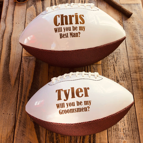 Groomsmen Proposal Football