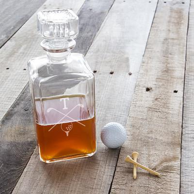 personalized golf decanter