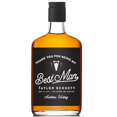 Bottle Label Engraved With Groomsmen Name