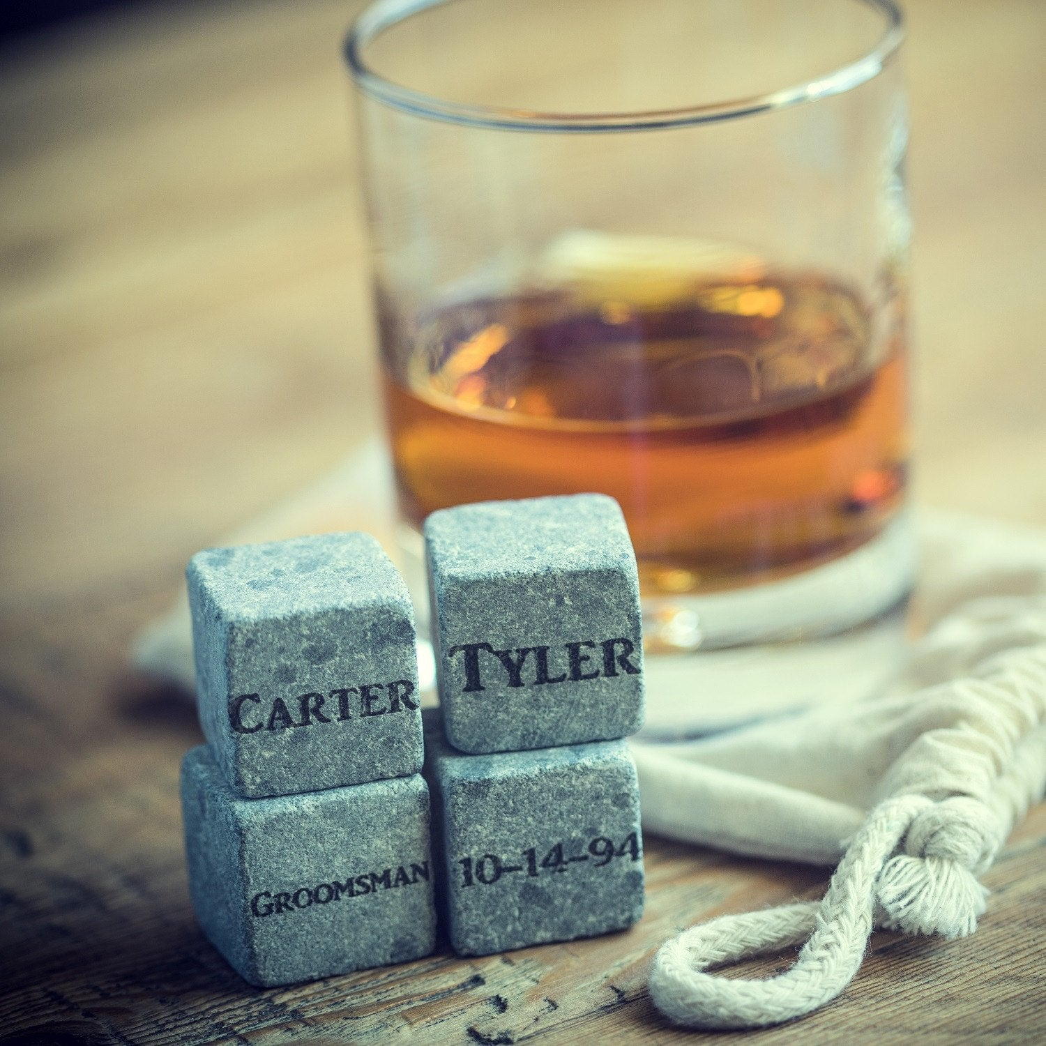 Bar - Four Whiskey Chilling Stones