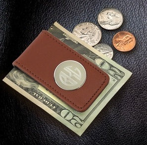 Bar - Leather Magnetic Money Clip