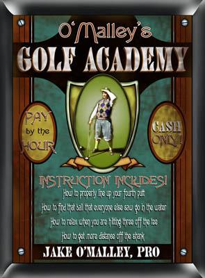 Gold Academy Pub Sign
