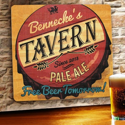 Bar - Tavern Beer Man Cave Sign