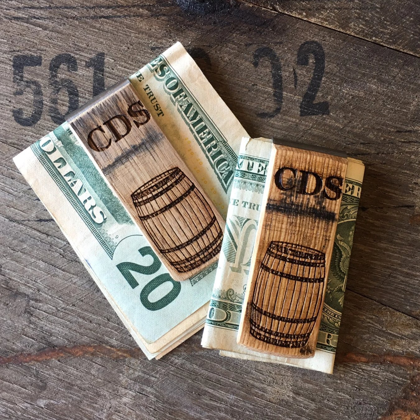Bourbon Barrel Money Clip