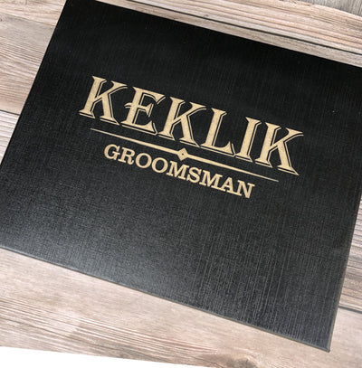 Engraved Black Groomsmen Box