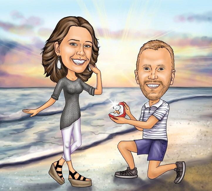 Caricature - Engagement Proposal Caricature