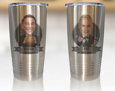 Caricature Printed On Coffee Travel Mug