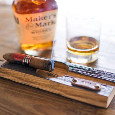 Engraved Bourbon Barrel Cigar Ashtray