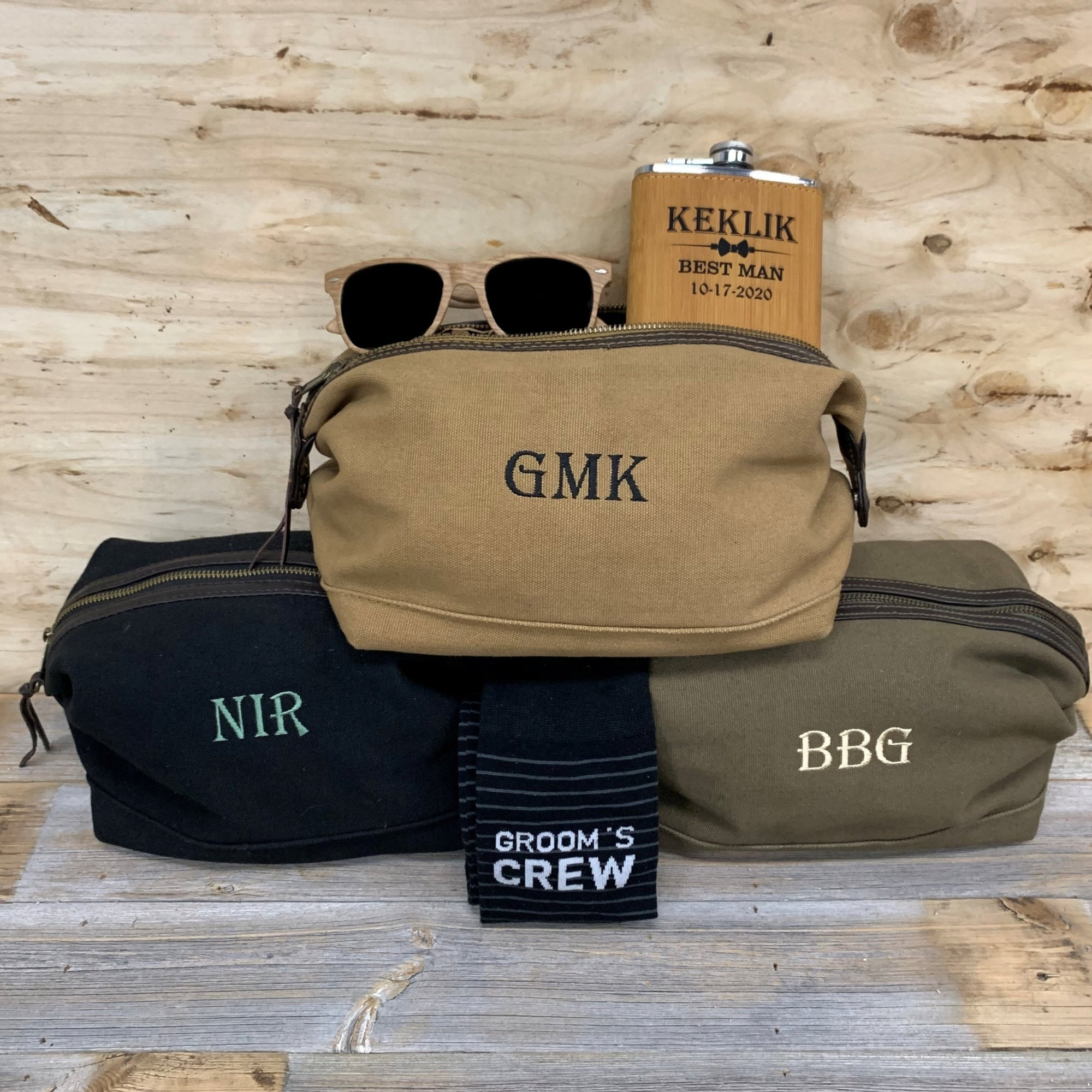 Personalzied Dopp Kit Groomsmen Set