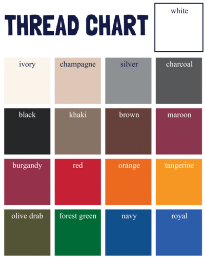 Tread Color Chart