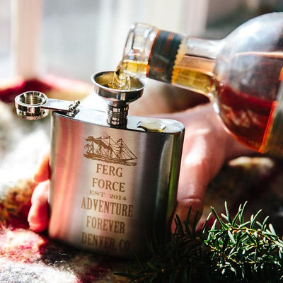 Metal Engraved Groomsmen Flask