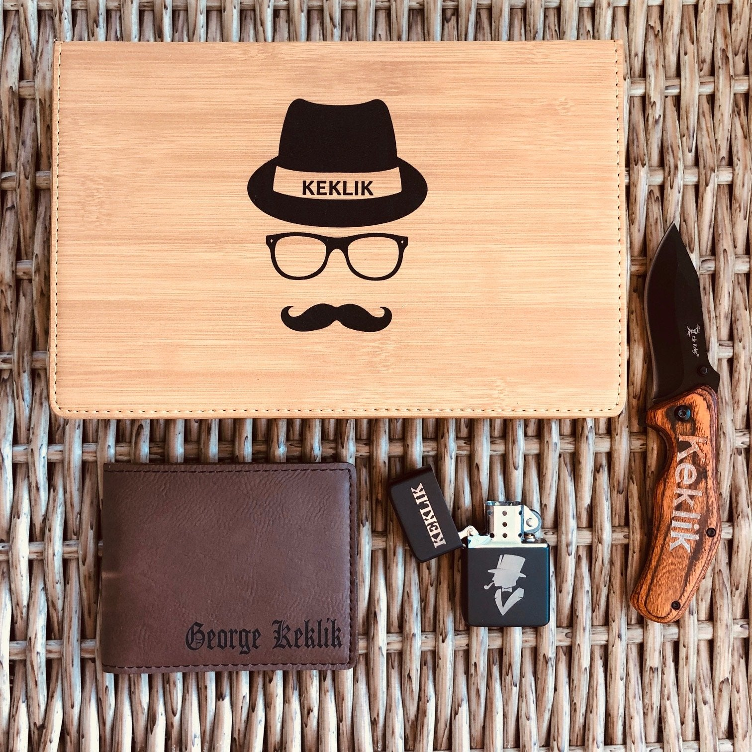 Engraved Faux Leather Groomsmen Gift Box