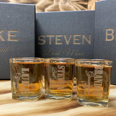 Engraved Groomsmen Shot Glass