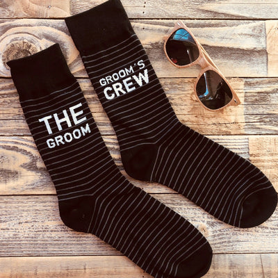 Groomsmen Black Socks