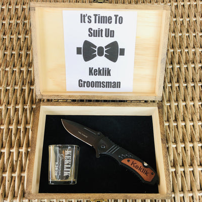 Engraved Groomsmen Proposal Box