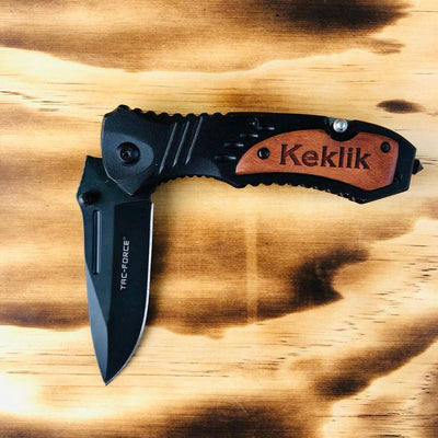 Personalized Black Utility Knife