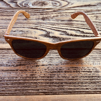 Brown Wooden Sun Glasses