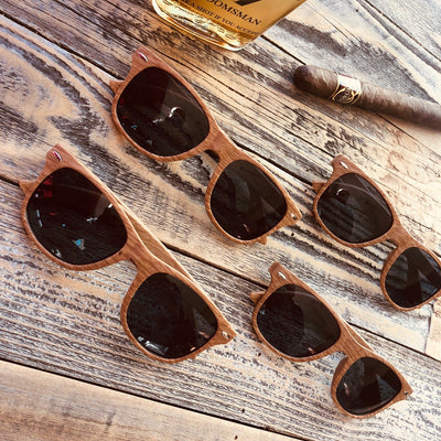 Brown Groomsmen Wooden Sun Glasses