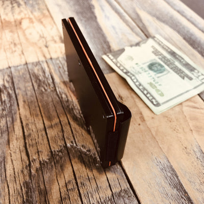 Engraved Matte Black Wallet