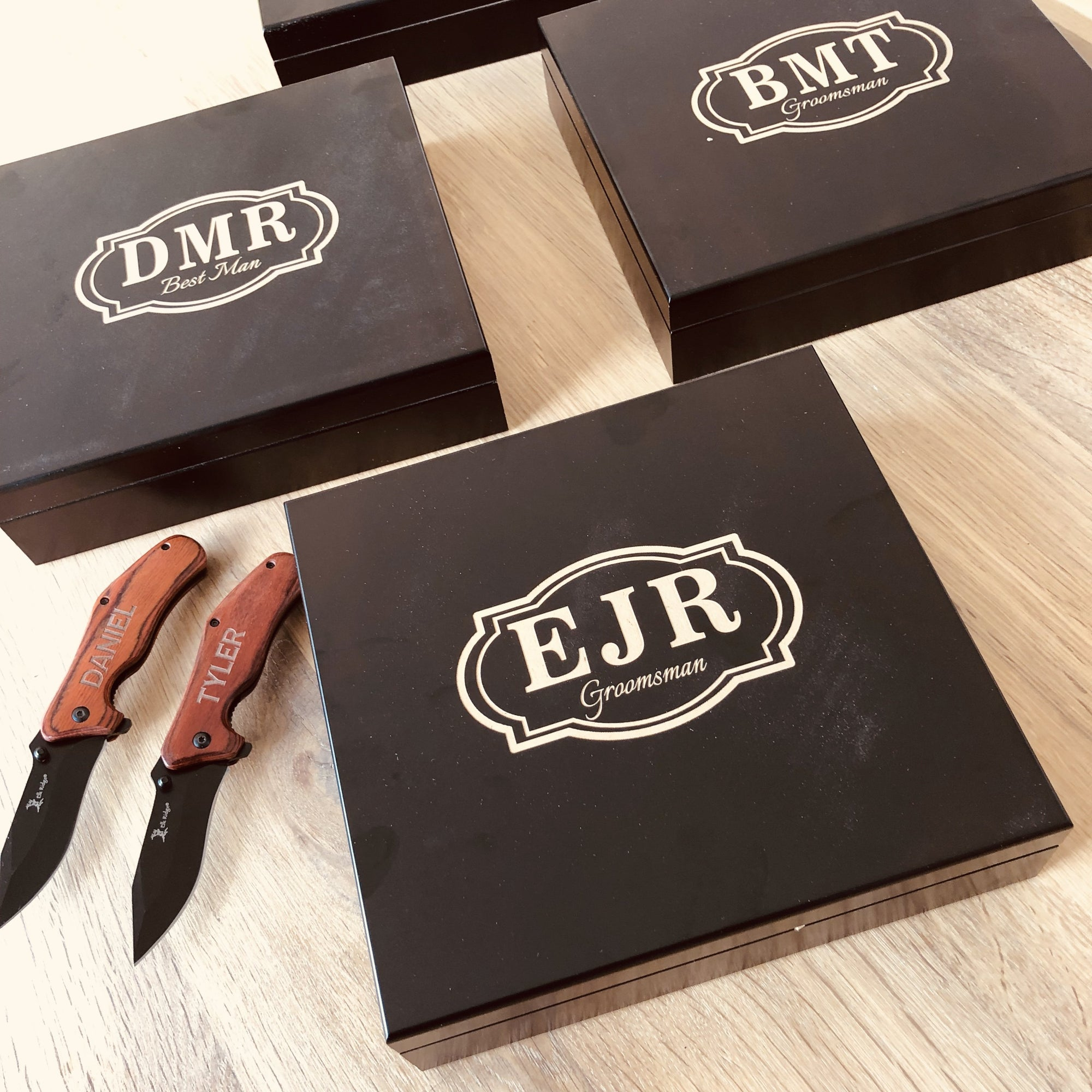 Black Groomsmen Gift Box Set