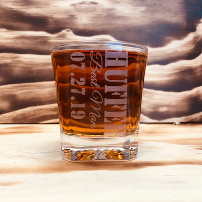 Engraved Groomsmen Whiskey Glass