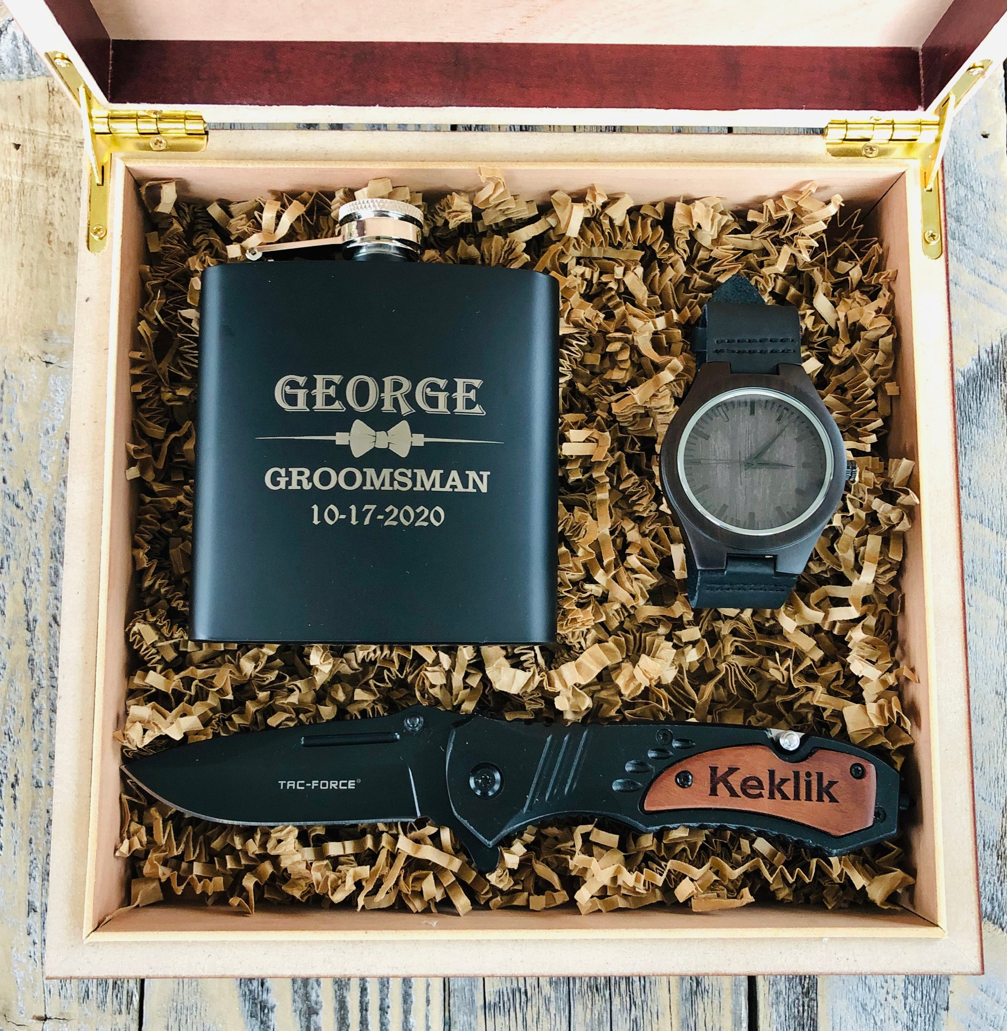 Luxury Groomsmen Gift Box Set