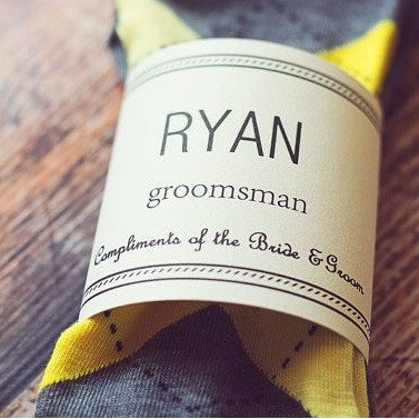 Man Bags - Groomsmen Gift Label