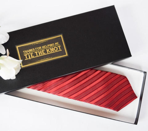 Man Bags - Tie The Knot Gift Box & Personalized Tie Gift Box for Groomsmen - Thanks For Helping Me ... Aboutintivar.Com