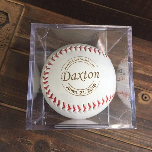 Engraved Baseball with Plastic Case
