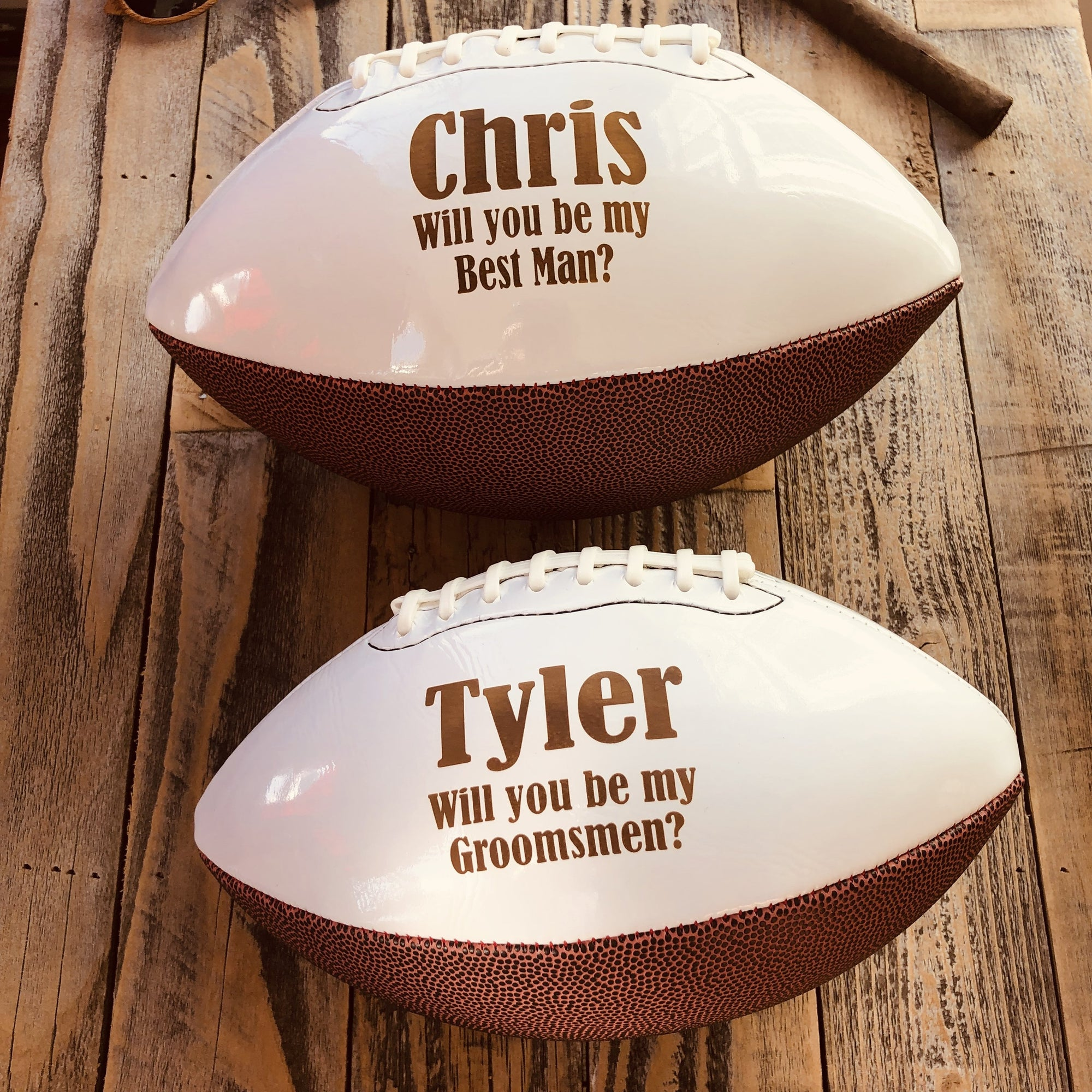 Engraved Groomsmen Mini Football