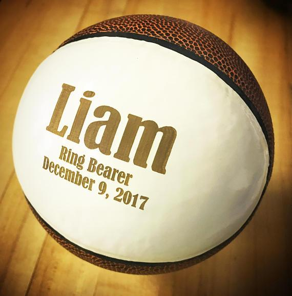 Engraved Groomsmen Mini Basketball