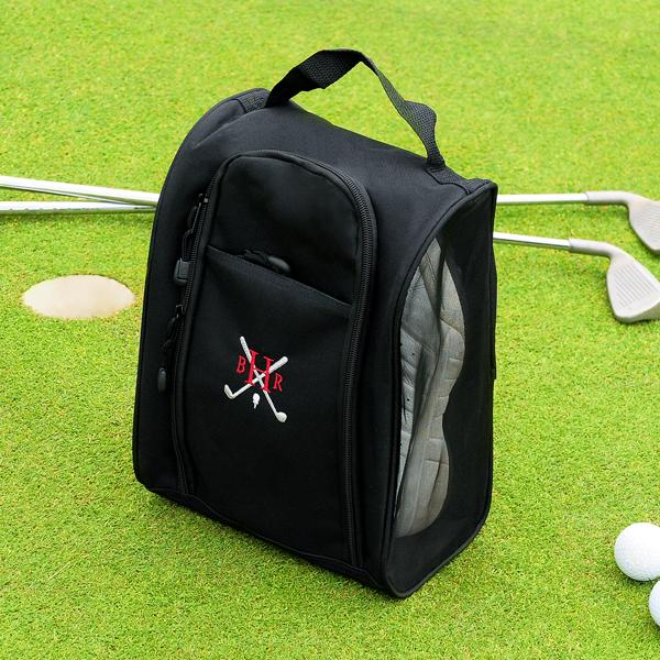 Black Embroidered Golf Bag