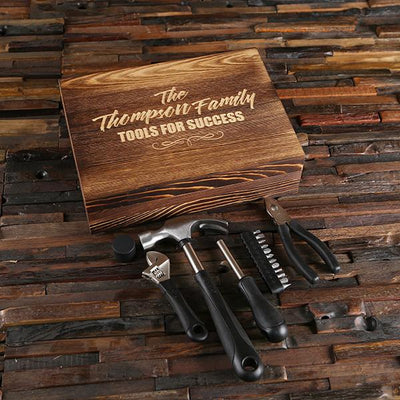 Wooden Box Tool Set
