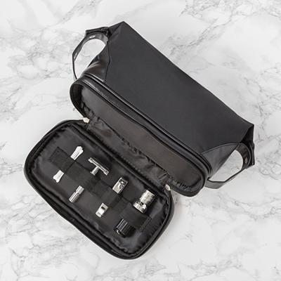 Personalized Black Canvas Toiletry Kit