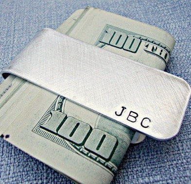 Wallets - Hand Stamped Money Cliplet
