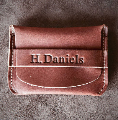 Brown Engraved Leather Wallet