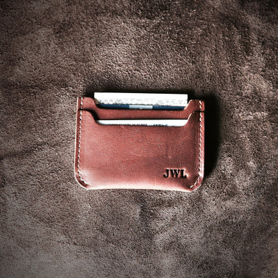 Brown Leather Minimalist Wallets
