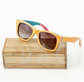 Wooden Sunglasses with Engraved Case