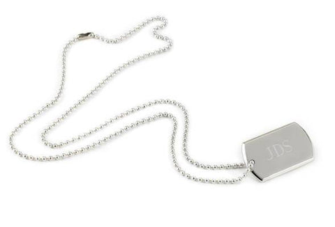 Wearables - Nickel Plated Dog Tag