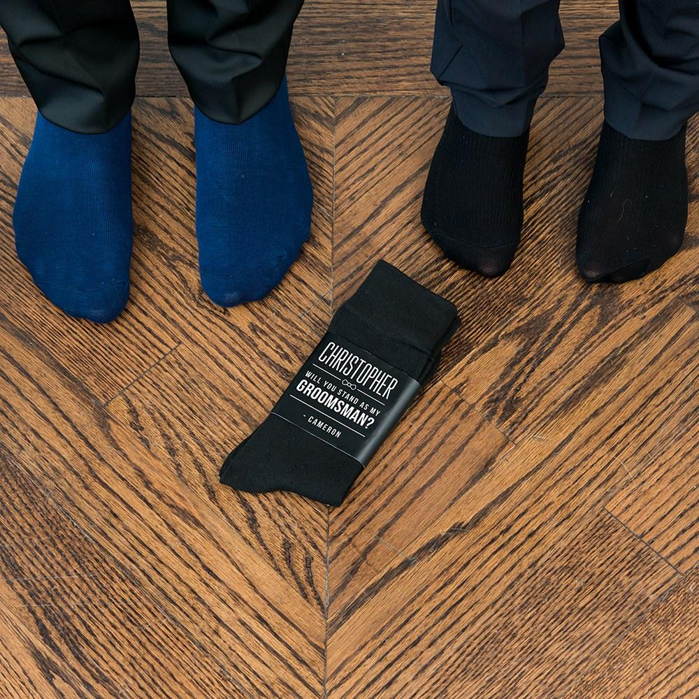 Groomsmen Sock With Groomsmen Label